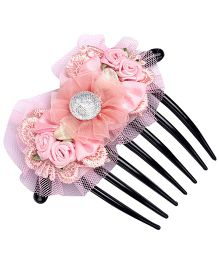Cotton Candy Floral Comb Clip