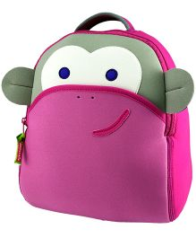 Elefantastik Pink Monkey Backpack - Pink And Green