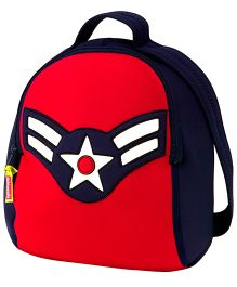 Elefantastik Vintage Airman Backpack - Red And Navy Blue
