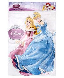 Disney Princess Aurora And Cinderella Big Cut Out Sticker - Pink ANd Blue