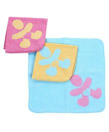 Child World Multi Color Hand And Face Towel - Set of 3