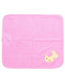 Child World Hand And Face Towel Elephant Print - Pink