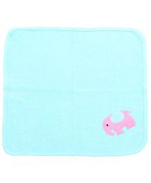 Child World Hand And Face Towel Blue - Elephant Print