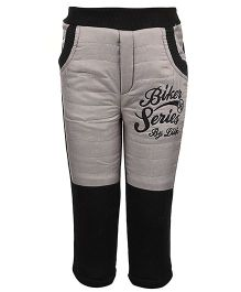 Little Kangaroos Quilted Bottom Biker Series Embroidery - Black