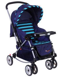 Infanto Jazz Multifunction Stroller Cum Pram Blue - In-02