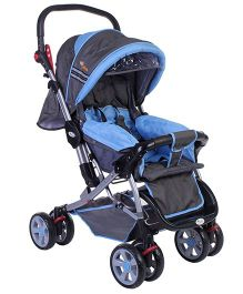 Infanto Dzire Stroller Cum Pram Blue And Grey - In-01