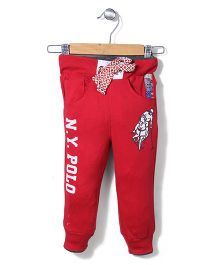 New York Polo Academy Drawstring Pant - Red