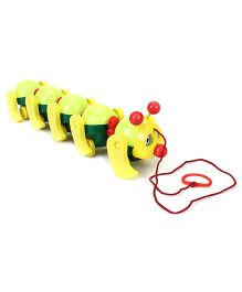Ratnas Cute Cate Caterpillar Pull Along Toy - Multi Colour