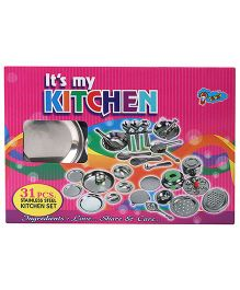 Venus Its My Kitchen Stainless Steel Kitchen Set 31 Pieces (Color May Vary)