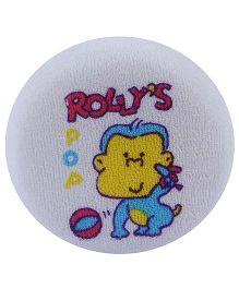 Fab N Funky Baby Bath Sponge - Rolly Pop Print