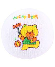 Fab N Funky Baby Bath Sponge Yellow - Mickey Bear