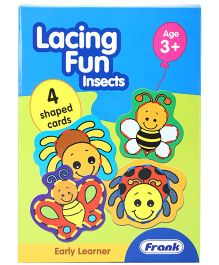 Frank Lacing Fun Insect - 4 Shaped Cards