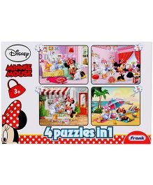Frank Minnie Mouse 4 In 1 Puzzle Set