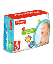 Fisher Price Happy Baby Diaper Small - 40 Pieces