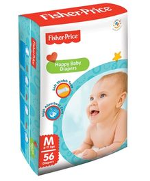 Fisher Price Happy Baby Diaper Medium - 56 Pieces