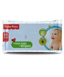 Fisher Price Baby Wipes - 80 Pieces
