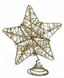 Party In A Box Glitter Star Ornament - Golden