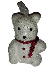 Party In A Box White Glitter Teddy - 6 Pieces