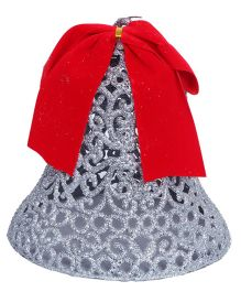 Party In A Box Bell With Glitter - Silver