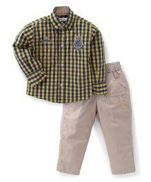 Active Kids Wear Shirt And Trouser Set - Checks