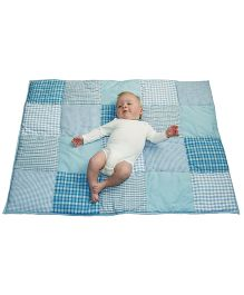 Taftan European Brand 5 layer Padded Play Mat Light Blue Patch