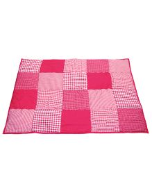 Taftan European Brand 5 layer Padded Play Mat Dark Pink Patch