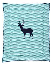 Taftan European Brand 5 layer Padded Play Mat Deer Blue