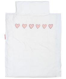 Taftan European Brand Big Size Quilt Hearts Check Pink