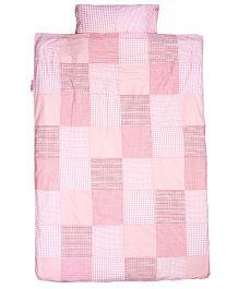 Taftan European Brand Big Size Quilt Check Patch Pink