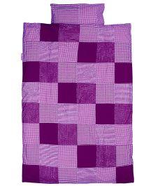 Taftan European Brand Big Size Quilt Check Patch Purple