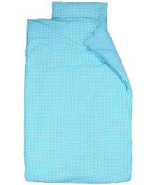Taftan European Brand Big Size Quilt Checks Turquoise