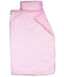 Taftan European Brand Big Size Quilt Checks Pink