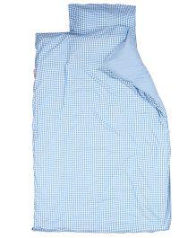 Taftan European Brand Big Size Quilt Checks Blue