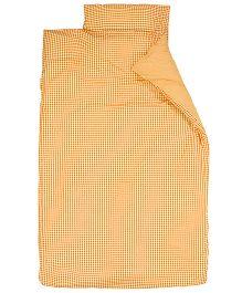 Taftan European Brand Big Size Quilt Checks Orange