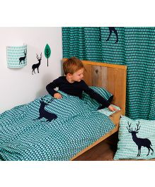 Taftan European Brand Big Size Quilt Deer Blue Green