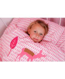 Taftan European Brand Big Size Quilt Deer Pink