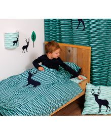 Taftan European Brand Very Big Cushion + Cushion Cover Deer Blue