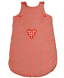 Taftan European Brand Sleeping Bag Sleveeless Heart Check Red