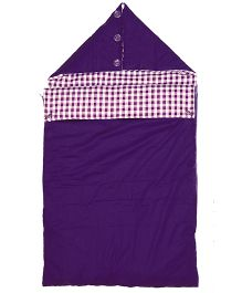 Taftan European Brand Pram Bag Checks Purple