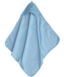 Taftan European Brand Hooded Terry Towel Star Light Blue