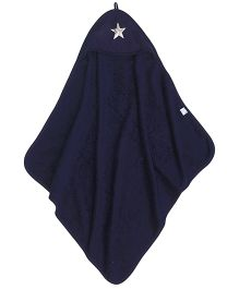 Taftan European Brand Hooded Terry Towel Star Dark Blue