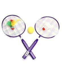 Speedage Badminton Racket Set - Multi Colour