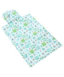 Tinycare Plastic Changing Sheet With Pillow