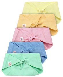 Tinycare Triangle Cloth Nappy Multicolor Small - Pack Of 5