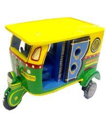 Desi Toys Wooden Auto Rickshaw