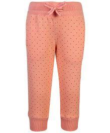 Fox Baby Fleece Leggings - Polka Dot Print
