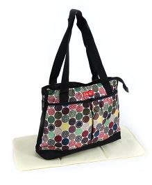 ReeBaby Diaper Bag With Changing Mat - Multicolour