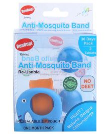 Runbugz Elephant Anti Mosquito Bracelet With Two Refillable Tab (Color May Vary)