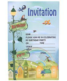 Karmallys Invitation Cards - City Rainbow Print