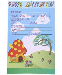 Karmallys Kids Party Invitation Pad Nature Print - Pack Of 20